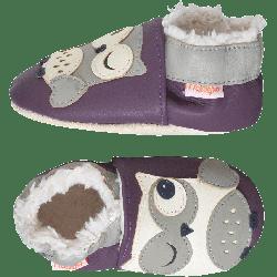 chaussons-bebe-cuir-souple-fourres-babette-chouette-profil