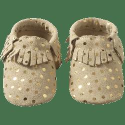 Chaussons-bebe-cuir-souple-franges-pois-face