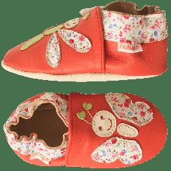 chaussons-bebe-cuir-souple-libellule-papillon-profil
