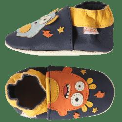 chaussons-bebe-cuir-souple-timo-et-lulu-les-monstres-profil
