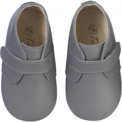 chaussure-bebe-cuir-souple-malou-grise-face