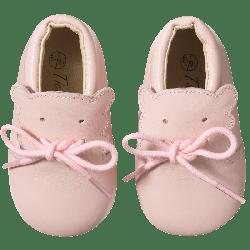 chaussure-bebe-cuir-souple-bobi-rose-face