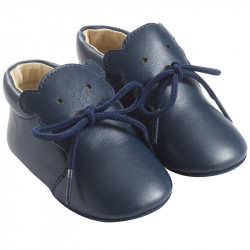 chaussure-bebe-cuir-souple-bobi-marine-profil