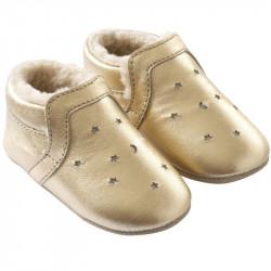 chaussures-bebe-cuir-souple-fourres-doré-lpj-tichoups-profil
