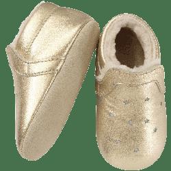chaussures-bebe-cuir-souple-fourres-doré-lpj-tichoups-semelle