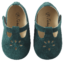 chaussures-bebe-cuir-souple-salome-vert-face
