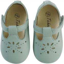 chaussures-bebe-cuir-souple-salome-vert-de-gris-face
