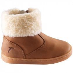 chaussures-premiers-pas-chouby-cognac-profil