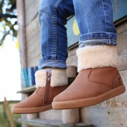 chaussures-premiers-pas-chouby-cognac-face