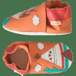 chaussons-bebe-cuir-souple-le-petit-indien-profil