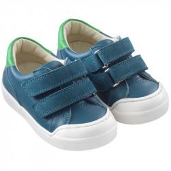 chaussures-premiers-pas-happy-bleu-canard-face
