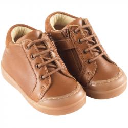 chaussures-premiers-pas-lacy-cognac-face