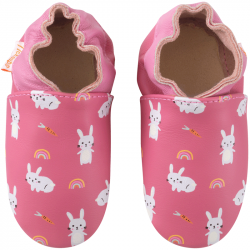 chaussons-bebe-cuir-souple-lana-les-lapins-face