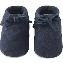 chaussons-bebe-a-franges-fourres--mocassin-marine-face