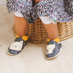 chaussons-bebe-cuir-souple-nina-chat-face