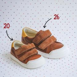 chaussures-premiers-pas-happy-cognac-face