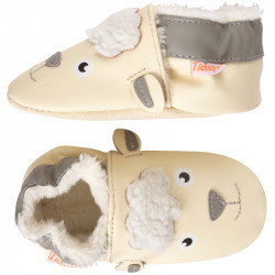 chaussons-bebe-cuir-souple-fourres-raymond-mouton-profil