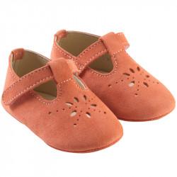 chaussures-bebe-cuir-souple-salome-brique-profil