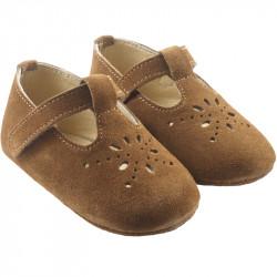 chaussures-bebe-cuir-souple-salome-grises-profil