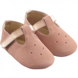 chaussures-bebe-cuir-souple-star-rose-profil