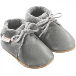 chaussures-bebe-cuir-souple-grises-profil