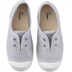 chaussures-premiers-pas-toile-tiwi-gris-face