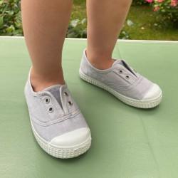 chaussures-premiers-pas-toile-tiwi-gris-profil