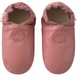 Chaussons-unis-rose-velours-face
