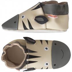 chaussons-bebe-cuir-souple-zack-zebre-profil
